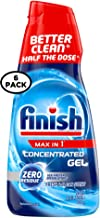 Finish Max in 1 Dishwasher Detergent Concentrated Gel, 26 oz, 32 Washes, Fresh & Clean Scent (Pack of 6)