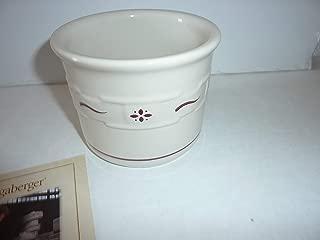 Longaberger WovenTraditions Red One Pint Salt Crock