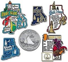 Six-Piece State Magnet Set - Rhode Island
