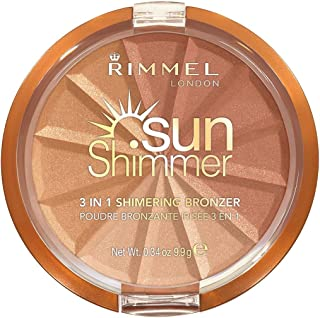 Rimmel London Sunshimmer 3 in 1 Shimmering Bronzer, 001 Gold Princess, 9.9g