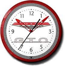 """product image for GTO Pontiac Emblem Neon Wall Clock 20"""" Made In USA, 110V Electric, Aluminum Spun Case, Powder Coated Finish, Glass Face, Brass Movement, Pull Chain, 1 Year Warranty"""