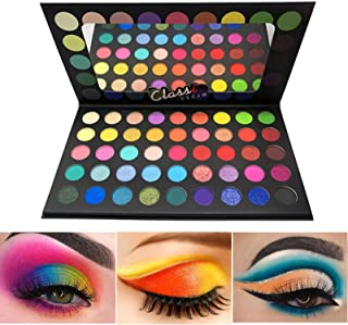 BONNIESTORE Colorful Eyeshadow Palette, 45 Colors High Pigmented Matte Shimmer Glitter Smooth Powder Eye shadow Blendable ...