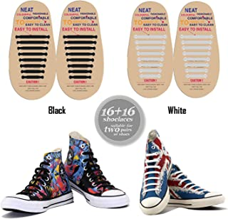 No Tie Shoelaces for Kids–Bestのスポーツファン–防水シリコンゴムフラットAthletic Running Shoe Lacesマルチカラースニーカーブーツボードの靴およびカジュアル