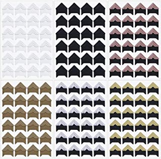 Penta Angel 12 Sheets 6 Colors Photo Corner Stickers Holder Protectors Self Adhesive Photo Mounting Corner Stickers Picture Corners for DIY Scrapbooking Photo Album Personal Journal Diary, 288 Count