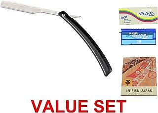Feather Plier Razor + Plier Razor Blades (20 blade) + Premium Oil Blotting Paper VALUE SET
