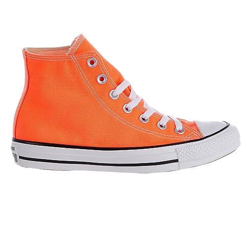 Converse Unisex Sneakers Chuck Taylor All Star Hi Top Hyper Orange Canvas  155739F 99e453c5e