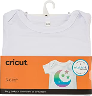 Cricut Baby Bodysuit Blank, 3-6 Months Infusible Ink, White