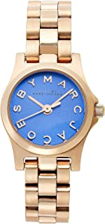Marc by Marc Jacobs Henry Dinky Blue Dial Rose Gold-Tone Stainless Steel Ladies Watch MBM3204