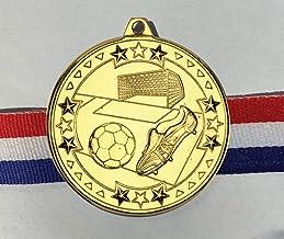 Trophy Shack 20 x 50mm diameter goudkleurige voetbalmedailles met GRATIS medaille linten
