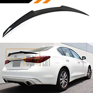 Cuztom Tuning Fits for 2014-2019 Infiniti Q50 JDM M4 Style Carbon Fiber Trunk Lid Spoiler Wing