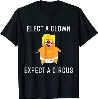 Baby Trump Blimp Balloon Float Shirt Elect A Clown Circus