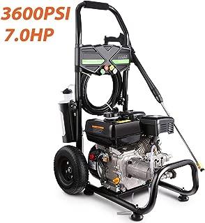 Plozara 3600PSI 212CC Gas Pressure Washer, 2.8GPM Gas Powered Power Washer