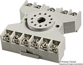 SR3P-06 - Relay Socket, DIN Rail, Screw, 11 Pins, 10 A, 300 V, GT3 Series (Pack of 5) (SR3P-06)