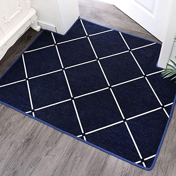 Bath Mat Kids Bath Rugs Bath Mat Rug Water Absorption Door Mat Foot Pad Carpet Living Room Mat Non Slip Foyer Bedroom Kitchen Household Bathroom WEIYV Color Navy Size 160230cm