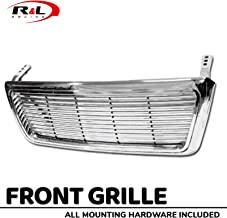 R&L Racing Chrome Front Grill Horizontal Billet Hood Bumper Grille Cover 2004-2008 for Ford F150 Pickup Truck
