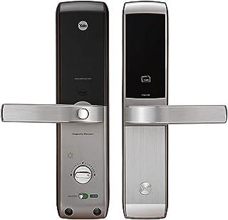 قفل باب رقمي Yale YDM3168، RFID، لوحة مفاتيح مونوبلوك ديجيتال ، فضي، عرض 14.5 x ارتفاع 14.0 x طول 3.5 بوصة
