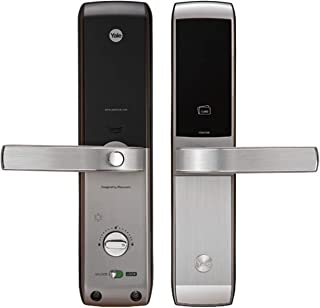 Yale YDM3168 Digital Door Lock, RFID, Keypad Digital Monoblock, Silver
