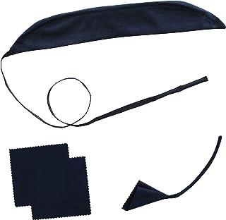 クラリネット クリーニング 3点セット 改良版 スワブ & マウスピース スワブ & コルクグリス 拭き取り スワブ 同色2枚組 アトリエ トマアズ (ネイビー)