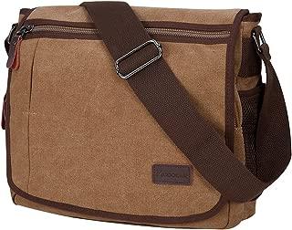 Laptop Messenger Bag for Men, Modoker Mens Canvas Vintage Shoulder Satchel Crossbody Bags Work