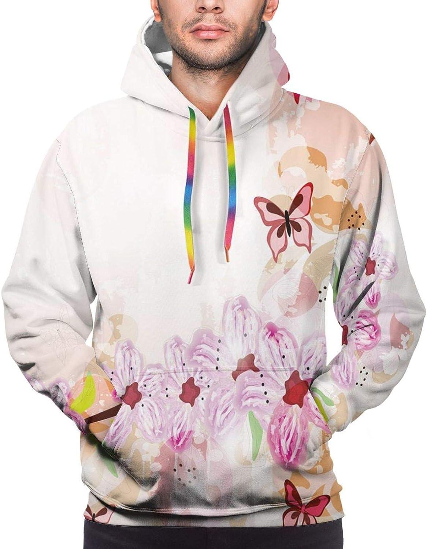 Men's Hoodies Sweatshirts,Artistic Snowman with Winter Accessories Color Splashes Happy Xmas Sketchy