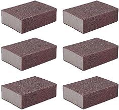 Liyafy 220 Grit Sponge Emery Cloth Sandpaper Blocks Buffing Diamond Polishing Pads Hand Sanding Tool 6pcs