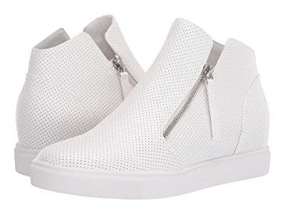 Steve Madden Caliber Wedge Sneaker (White) Women