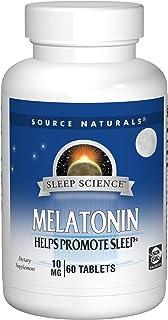 Source Naturals Sleep Science Melatonin 10 mg Helps Promote Sleep - 60 Tablets