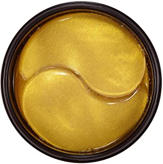 Pure 24K Gold Eye Mask with Collagen and Snail,Under Eye Patches,Under Eye Bags Treatment,Under Eye Mask for Puffy Eyes,Anti-Wrinkle,Undereye Dark Circles,Moisturize Anti Aging,Gel Pads 60 PCS Unisex