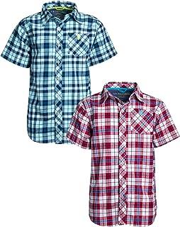 U.S. Polo Assn. Boys Short Sleeve Woven Shirt (2 Pack)