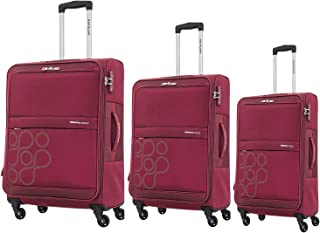 Kamiliant by American Tourister Venda Softside Spinner Luggage Set of 3, with TSA Lock - Red