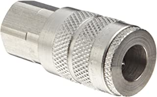 Dixon DC20S Stainless Steel 303 Air Chief Industrial Interchange Quick-Connect Hose Fitting, 1/4