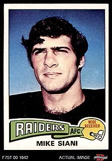 1975 Topps # 151 Mike Siani Oakland Raiders (Football Card) Dean's Cards 8 - NM/MT Raiders