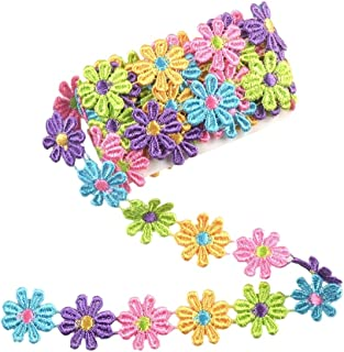 eZthings Designer Decorating Lace and Trims for Sewing and Craft Projects (3 Yard, Flower A)