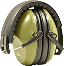 Earmuff hearing protection with low profile passive folding design 26dB NRR and reduces up to 125dB