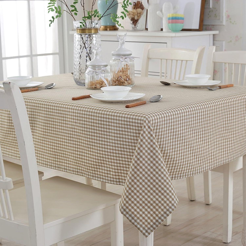 JFFFFWI Nappe de Grille Le Tissu Style de Jardin Table Basse Tissu de Table du Restaurant Napperons de Coton et de Lin-F 130x190cm(51x75inch)