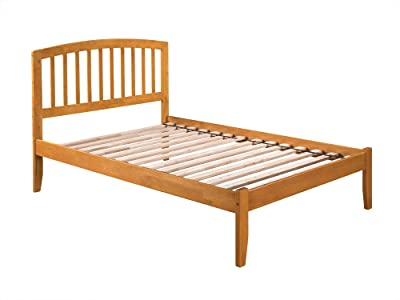Richmond Bed with Open Foot Rail, Full, Caramel Latte