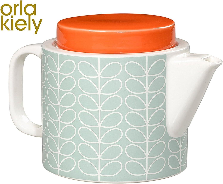 Linear Linear Linear Stem Teapot, Duck Egg Blau B074QT89T9 116c3a