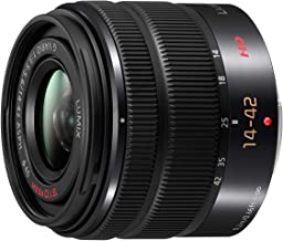Panasonic LUMIX H-FS1442AEKA - Objetivo Zoom Estándar para Cámaras de Montura M4/3 (Focal 14-42 mm, F3.5-F5.6, Tamaño Filtro 46 mm, MEGA O.I.S), Negro