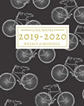 2019-2020: 16-Month Weekly and Monthly Planner/Calendar Sept 2019-Dec 2020 Vintage Bicycles on Black