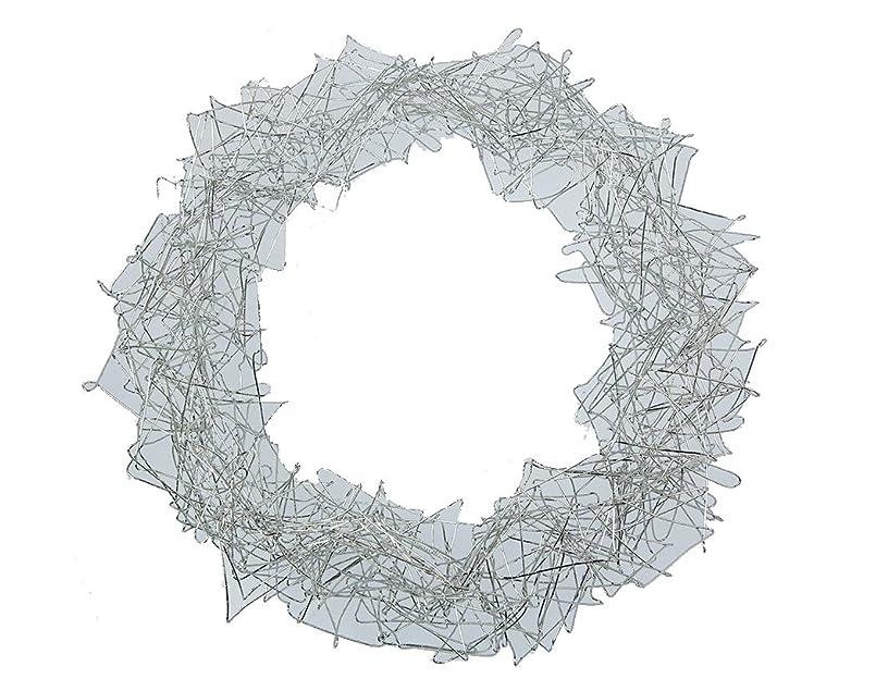 Steingaesser Wire Wreath 25?cm, Silver, 25?x 25?x 4?cm
