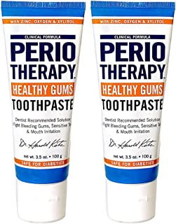 TheraBreath PerioTherapy Healthy Gums Toothpaste, 3.5 Ounce Tube (Pack of 2)
