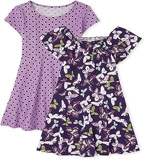 The Children's Place Boys Girls Print Skater Dress 2 Pack