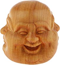 Small Wooden Buddha Head Statue with 4 Faces - 4cm / 1.57inch