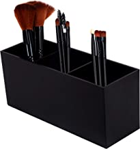 Makeup Brush Holder Organizer, 3 Slot Make Up Brush Holder Cup, Makeup Brush Case for Storage & Assort, Black