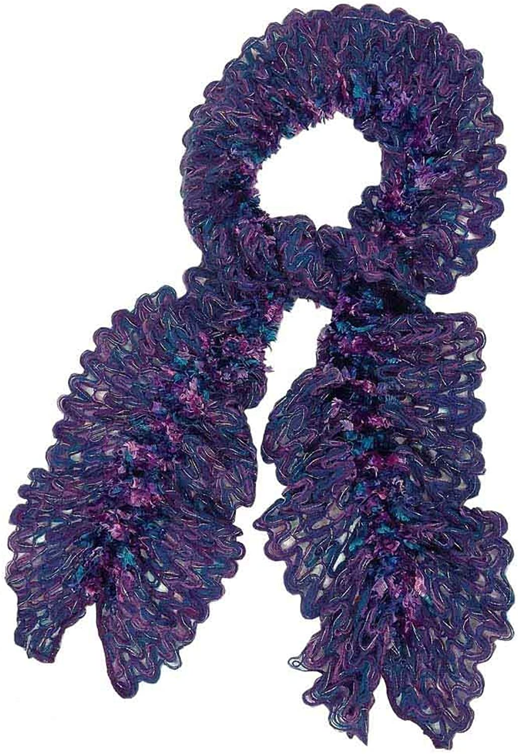 Charter Club Women's Chenille Ruffle Scarf bluee Ribbon