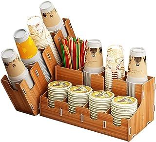 LUCKY OCEAN Boîte de rangement de tasse pour organisateur de station de café de salle de pause amovible, six styles peuven...