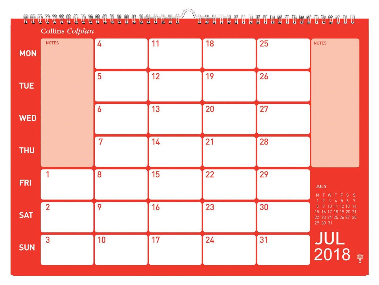 Collins – Calendario 2018 Colplan con espacio para notas, tamaño ...