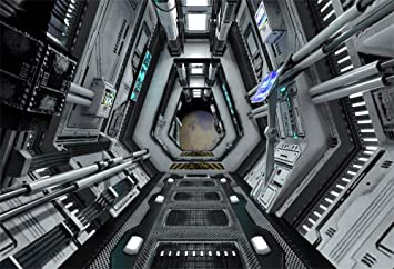 Upgrade Material LY052 for Party Decoration Birthday YouTube Videos School Photoshoot Photo Ba 12x10ft Vinyl Space Station Background for PictureUniverse Satellite Photography Backdrops Studio Props