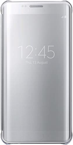 discount Samsung wholesale Galaxy S6 edge+ Case S-View Clear outlet sale Flip Cover (Silver) outlet online sale