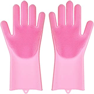Pet Grooming Gloves Hair Removal,Dog and Cat Brush Dog...